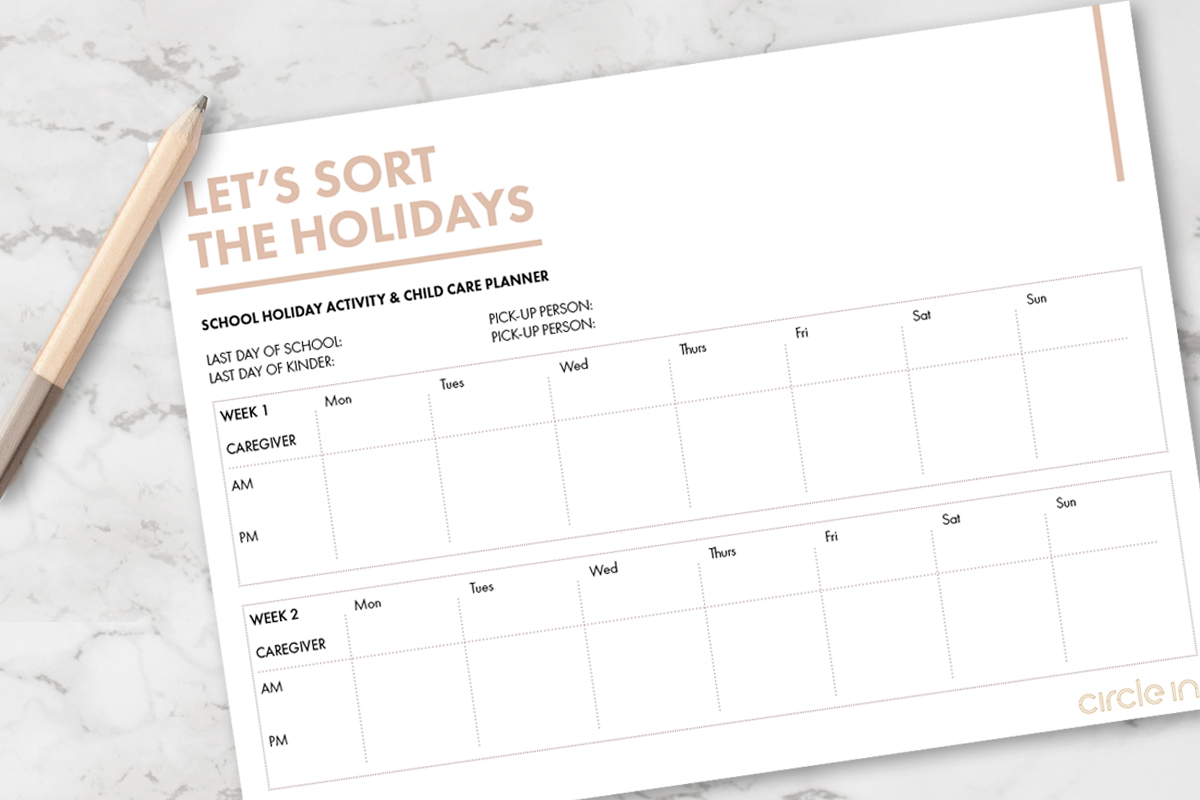 school holiday planner
