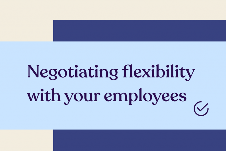 Guide tile - Negotiating flexibility with your employees